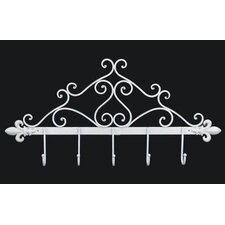41cm Iron Furniture Stand in Antique White