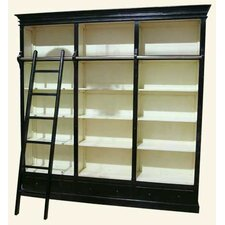 Rustic Furniture Big Bookcase in Black and White
