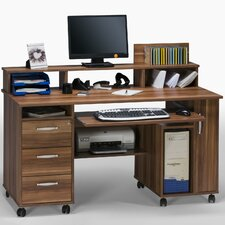 3 Drawer Computer Desk with Wheel Caster