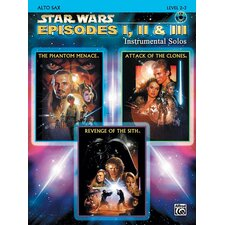 Star Wars: Episodes I, II and III Instrumental Solos Alto Sax (Book and CD)