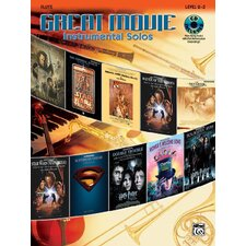 Great Movie Instrumental Solos Book and CD (Flute)