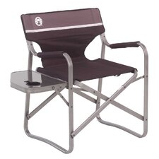 Portable Deck Chair with Side Table