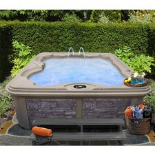 6 Person 30-Jet Bench Spa with Easy Plug-N-Play and LED Waterfall