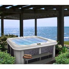 5 Person 30-Jet Lounger Spa with Easy Plug-N-Play and LED Waterfall