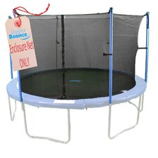 12' Round Trampoline Net using 4 Poles or 2 Arches