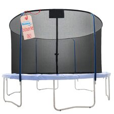 12' Round Replacement Trampoline Safety Net Using 4 Curved Poles