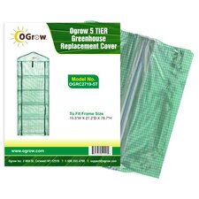 Ogrow 5 Tier Greenhouse PE Replacement Cover