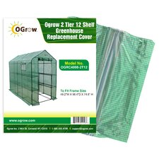 Ogrow 2 Tier 12 Shelf Greenhouse PE Replacement Cover