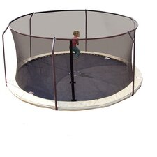 Replacement Safety Trampoline Net Using 6 Poles