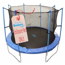 12' Round Enclosure Trampoline Net Using 8 Poles or 4 Arches