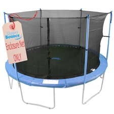 8' Round Enclosure Trampoline Net Using 6 Poles or 3 Arches