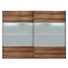 Kick  Sliding Door Wardrobe in Walnut