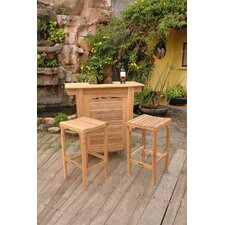 Montego 3 Piece Bar Height Dining Set
