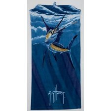 Guy Harvey Chasing Sailfish Beach Towel