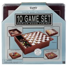 <strong>POOF-Slinky, Inc</strong> Premium Wood Box Board Game Set