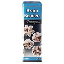 Brain Benders Mind-Bending 3D Wooden Puzzles Game in Tin Case