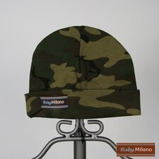 Baby Beanie Hat in Green Camo