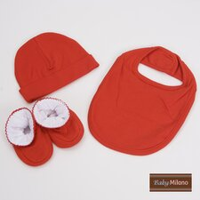 <strong>Baby Milano</strong> 3 Piece Baby Gift Set for Boy or Girl in Red