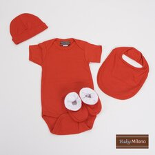 <strong>Baby Milano</strong> 4 Piece Baby Gift Set for Boy or Girl in Red