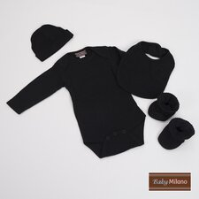 4 Piece Baby Clothes Gift Set in Solid Black