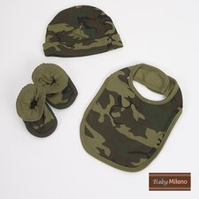 3 Piece Baby Clothes Gift Set in Army Camouflage