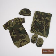 4 Piece Baby Clothes Gift Set in Camouflage