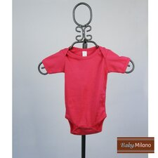 Short Sleeve Infant Bodysuit in Hot Pink