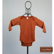 Long Sleeve Infant Bodysuit in Burnt Orange