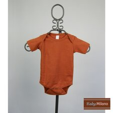 Short Sleeve Infant Bodysuit in Burnt Orange