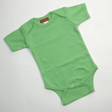 Short Sleeve Infant Bodysuit in Lime Green