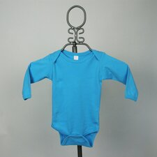 Long Sleeve Infant Bodysuit in Turquoise