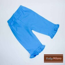Frilled Pants in Turquoise