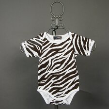 Zebra Infant Bodysuit - Short Sleeve in Brown
