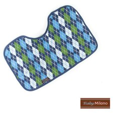 Burp Cloth in Blue Argyle