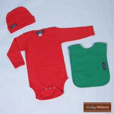 Baby Outfit in Red and Green