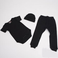 <strong>Baby Milano</strong> 3 Piece Baby Outfit in Black