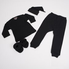 4 Piece Baby Outfit in Black
