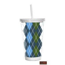 Argyle 16 oz Double Wall Insulated Tumbler