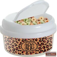 12 oz Leopard Snack Container