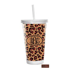 Leopard 16 oz Double Wall Tumbler