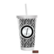 16 oz Zebra Double Wall Tumbler