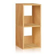 "zBoard Eco 2 Shelf Duo Narrow 30.2"" Bookcase and Storage Shelf"