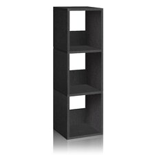 Way Basics Eco 3 Shelf Trio Narrow Bookcase and Storage Shelf