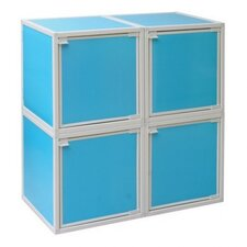 <strong>Way Basics</strong> 4 Cube Modular Storage Box