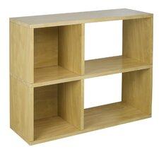 Way Basics Eco 2 Shelf Chelsea Bookcase and Cubby Storage