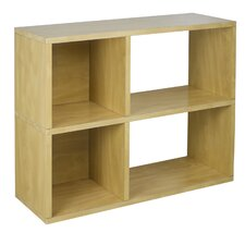 """zBoard Eco 2 Shelf Chelsea 24.8"""" Bookcase and Cubby Storage"""