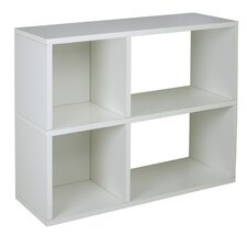 "zBoard Eco 2 Shelf Chelsea 24.8"" Bookcase and Cubby Storage"