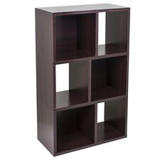 Way Basics Eco 3 Shelf Laguna Bookcase & Cubby Storage