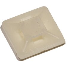 Regular Self-Adhesive Tie Mounts in Natural  (Bagged 100 Pack)