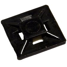 Small Self-Adhesive Tie Mounts in UV Black (Bagged 100 Pack)
